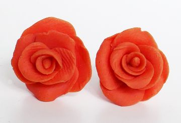 Ohrstecker Fimo Rose orange