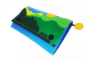 """Portemonnaie schmal """"Landschaft"""" blau"""